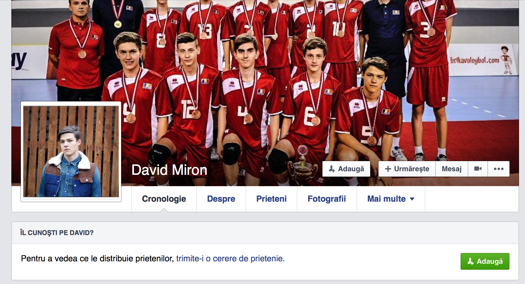 David Miron Profil Facebook